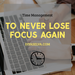 Diya Selva Never Lose Focus Again