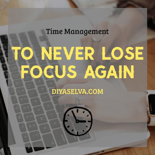 Diya Selva Never Lose Focus Again